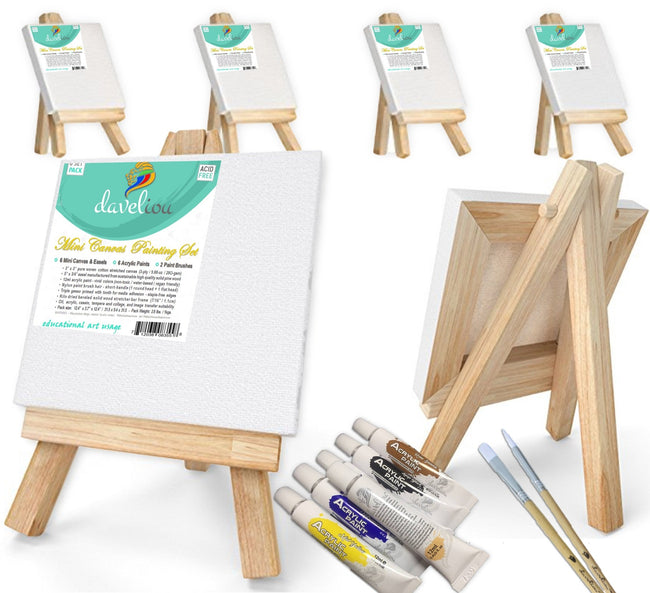 Daveliou™ eco-friendly canvas painting for beginners are produced using sustainable materials from sustainably managed sources preventing damage to eco-systems, watersheds, wildlife, insects & trees.