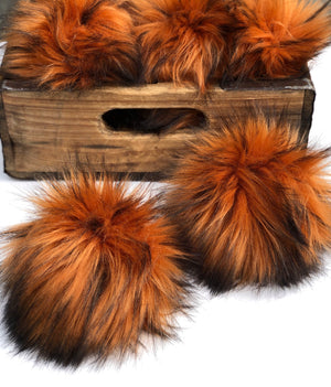 Amber Faux Fur Pom Pom - KitchenKlutter