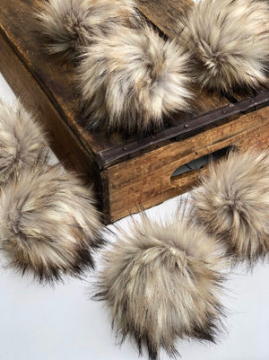 Fossil Faux Fur Pom Pom - KitchenKlutter