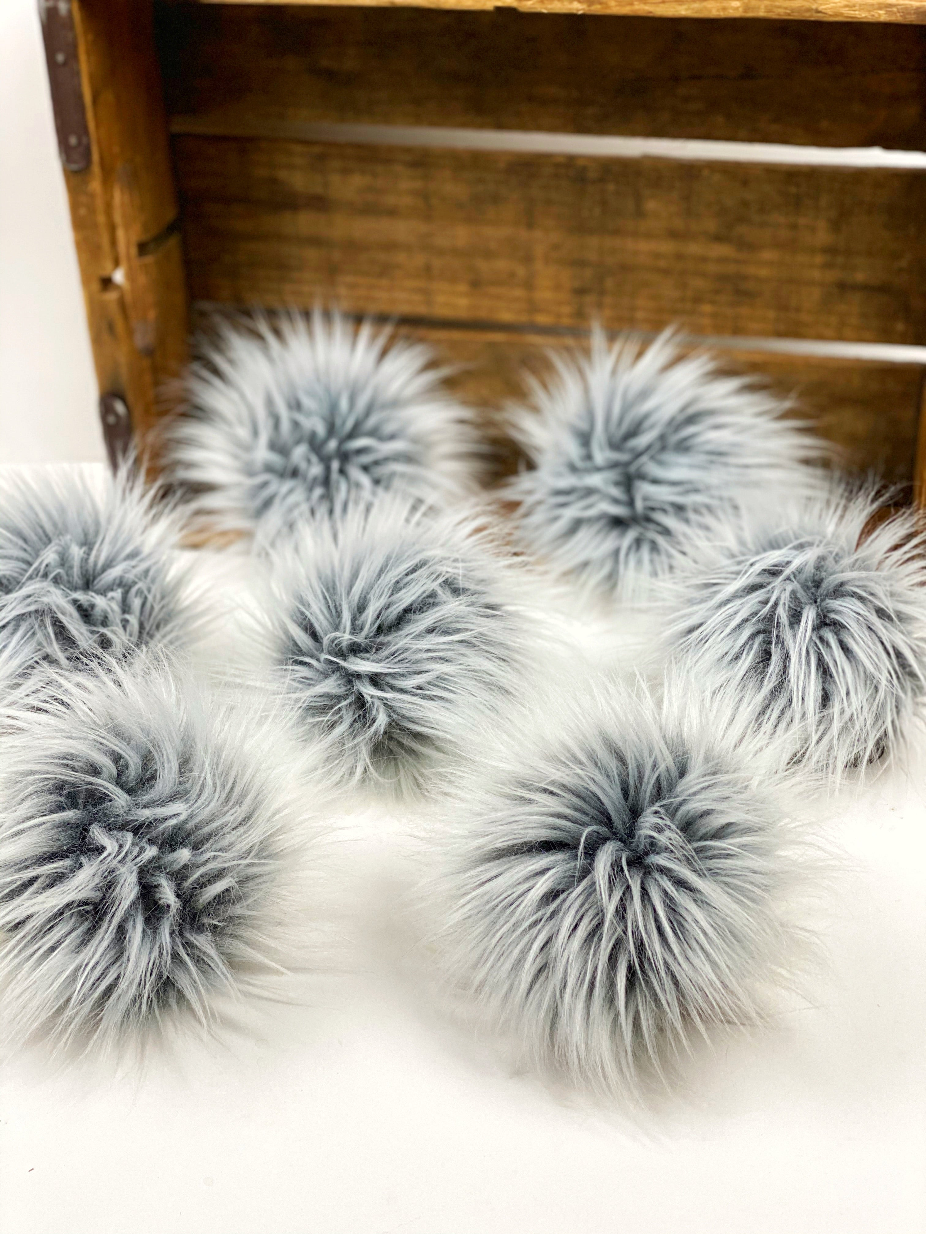 Grey Ghost Faux Fur Pom Pom - KitchenKlutter