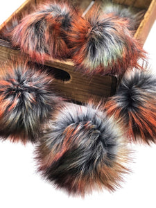 Autumn Storm Faux Fur Pom Pom - KitchenKlutter