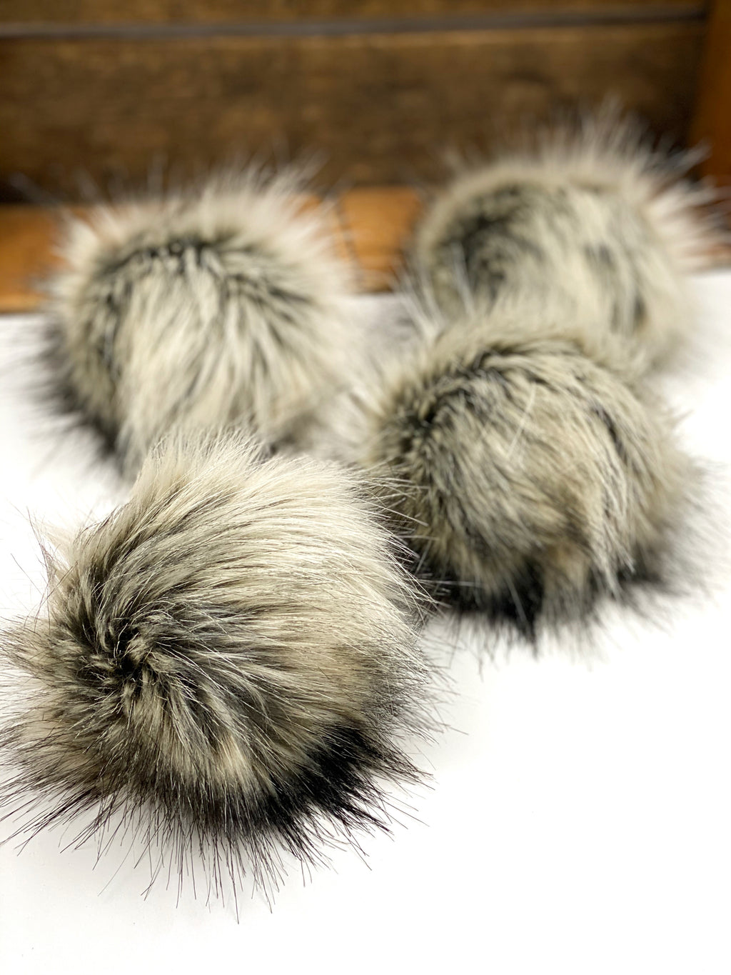 Dirty Blond Faux Fur Pom Pom