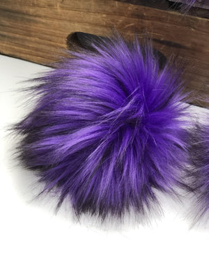 Purple Rain Faux Fur Pom Pom - KitchenKlutter
