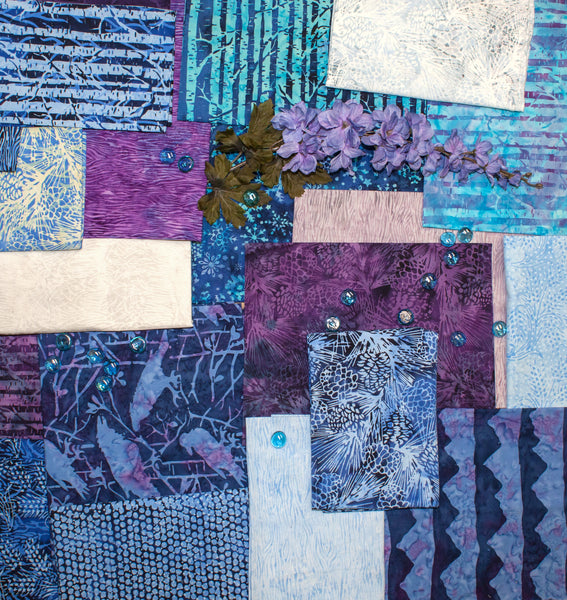 Island Batik: Blue Moon fabric collection