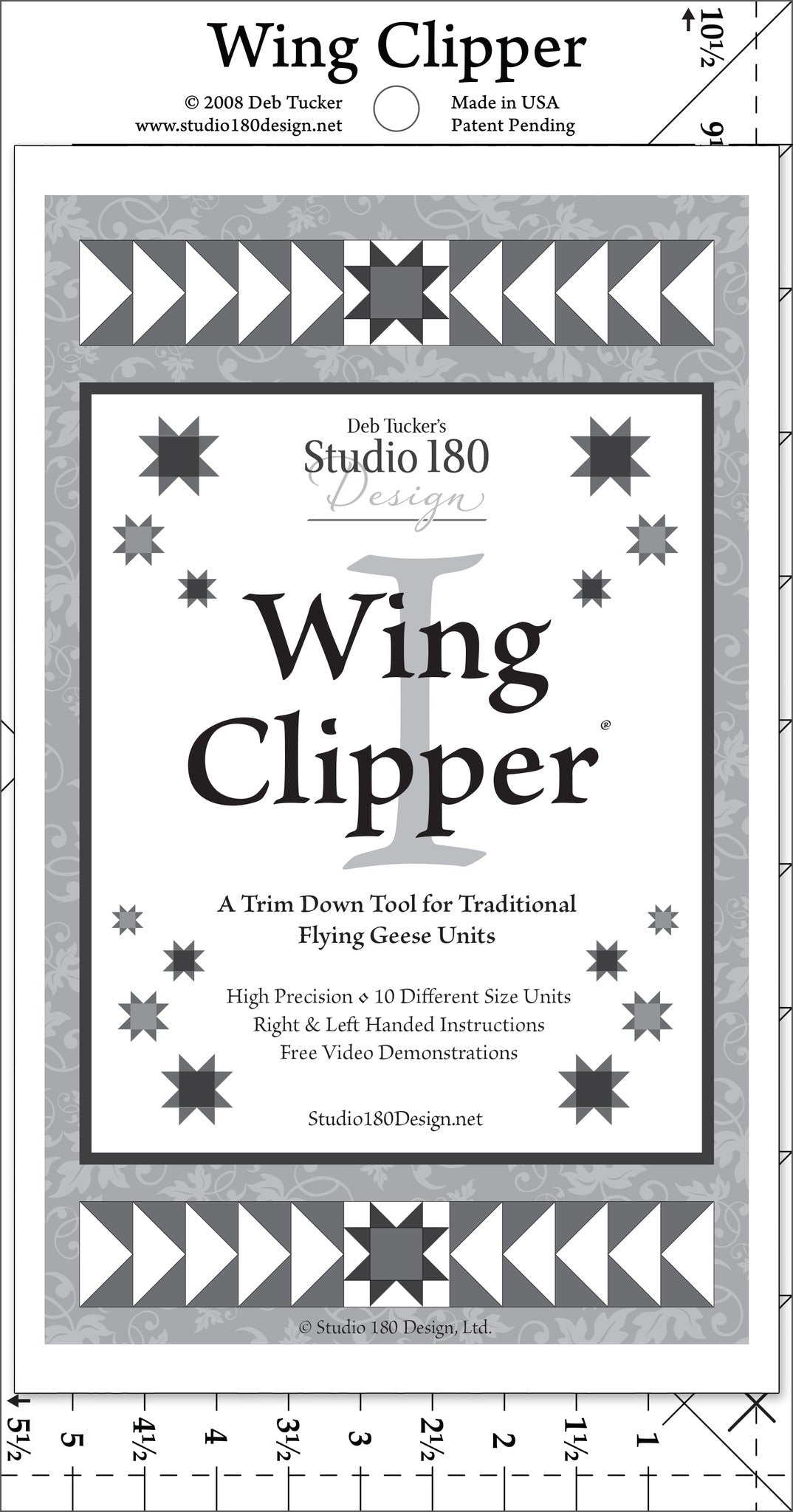 trim down tool for Flying Geese Units Wing Clipper quilting tool