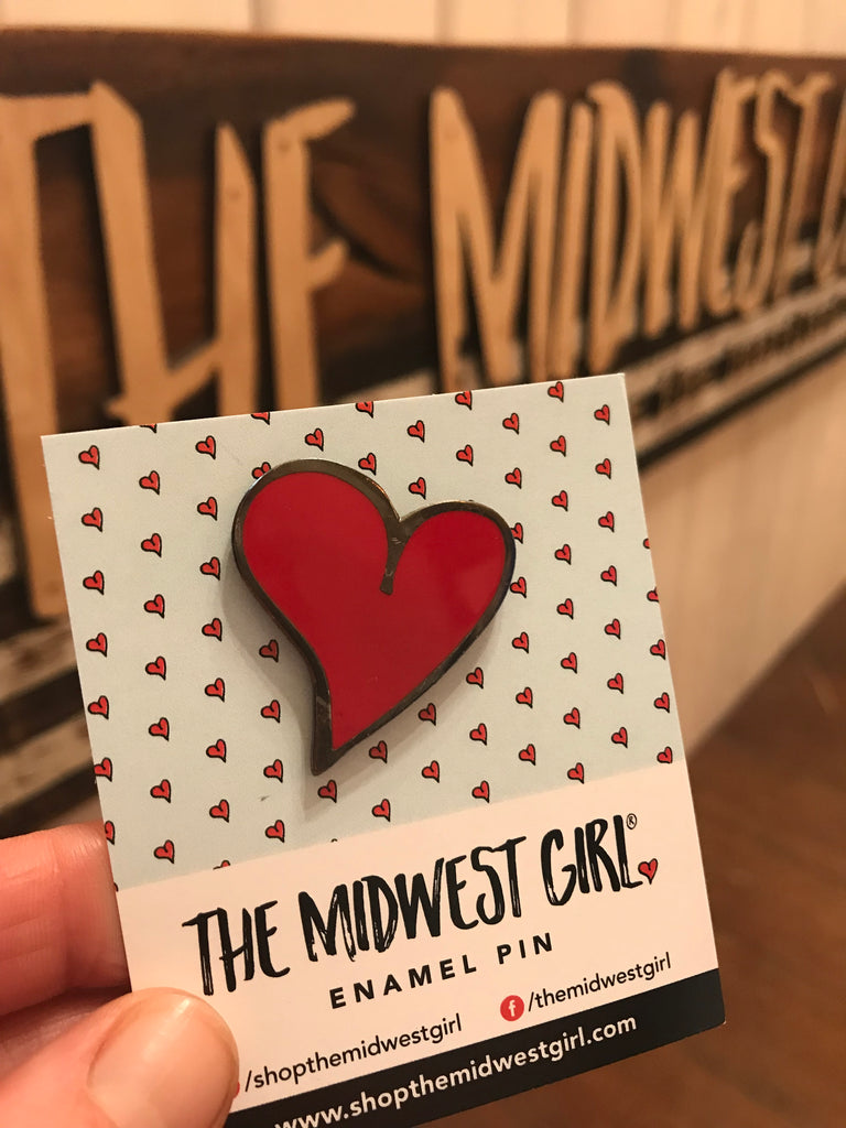 Signature Midwest Girl Heart enamel pin