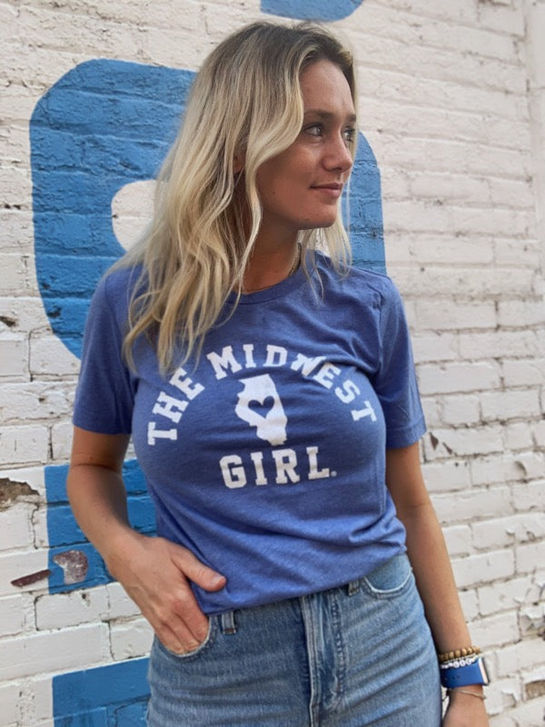The Vintage Illinois Midwest Girl Tee