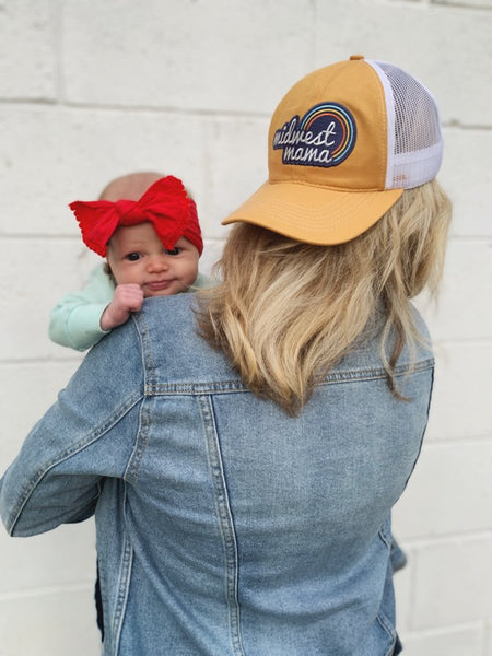 Rainbow Midwest Mama Trucker Hat