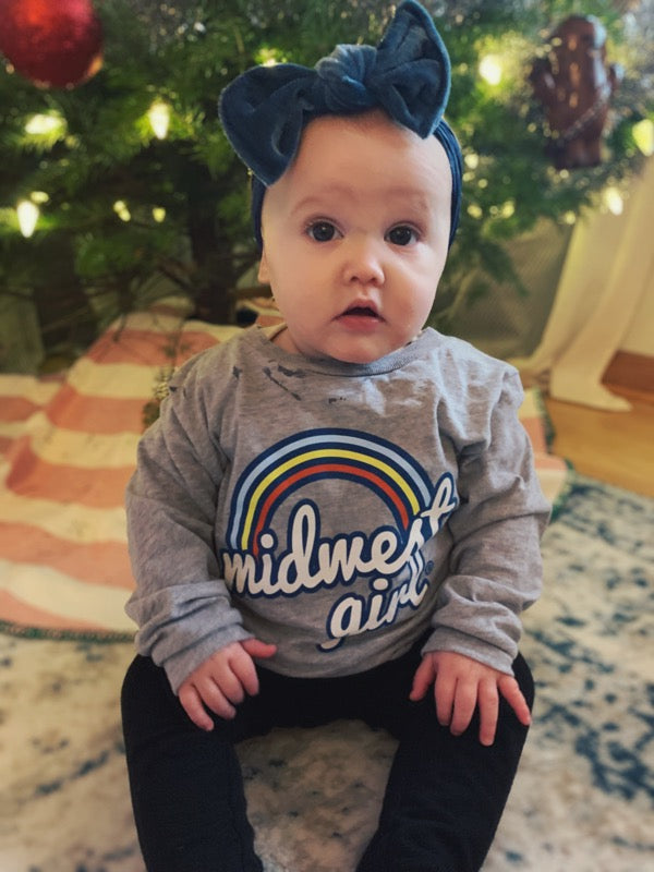 Somewhere over the Midwest Rainbow long sleeve for toddlers