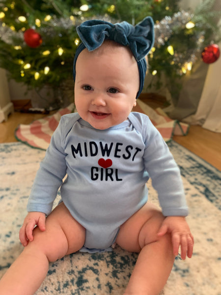 Original Midwest Girl long sleeve onesie