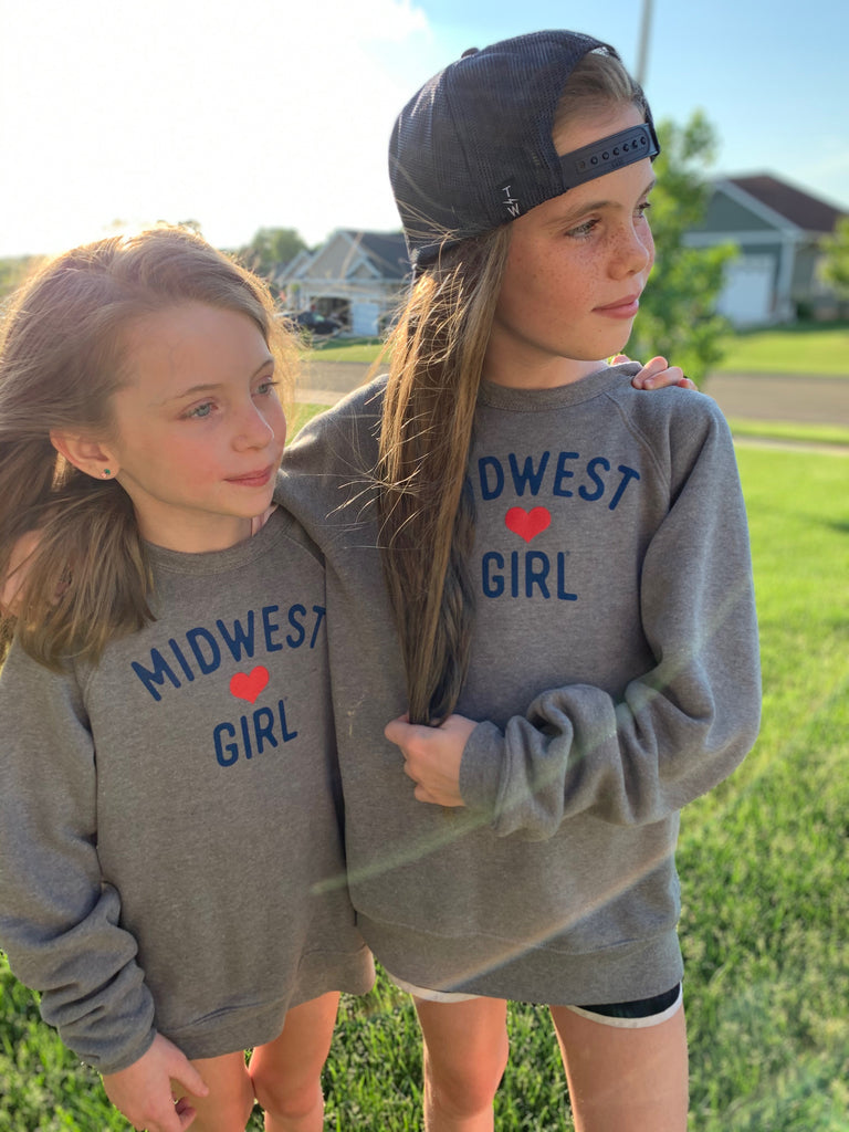 Original Midwest Girl® Crew Neck for littles