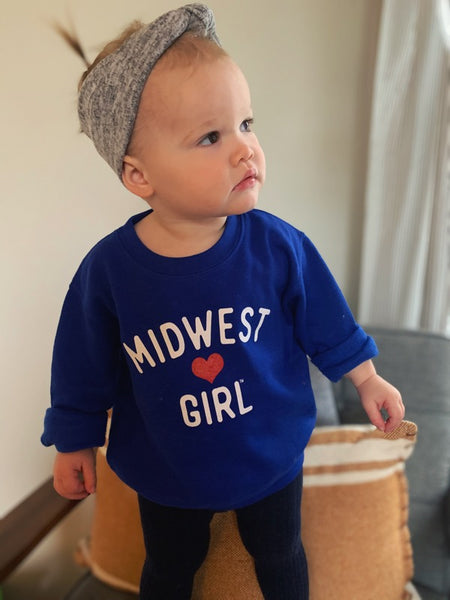 Original Midwest Girl Crew Neck for littles