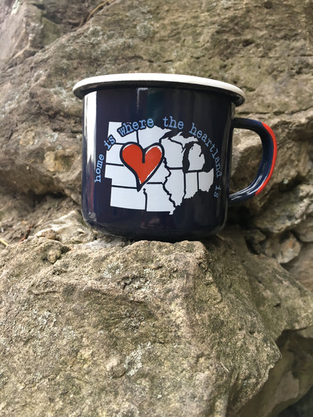 The Midwest Girl® Tin Campy Mug