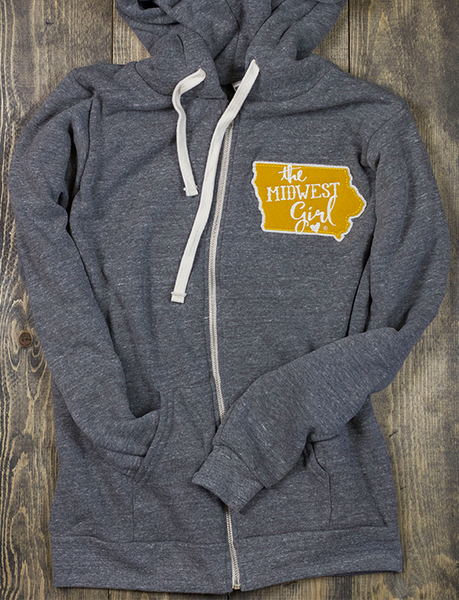 Iowa Campy Patch Zip Up
