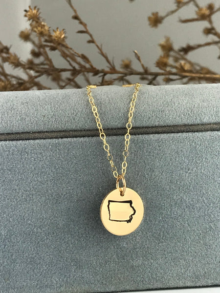 Iowa Necklace by Silverado Jewelry