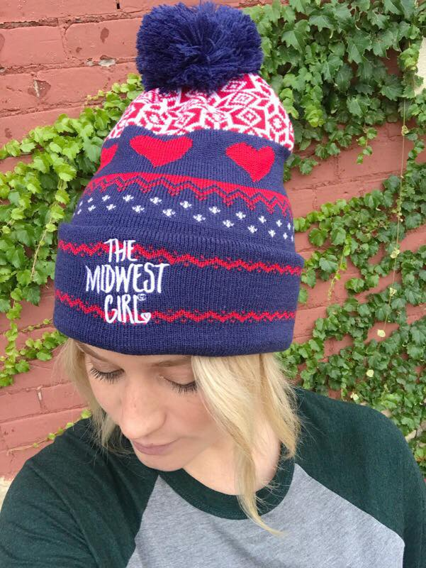 The Midwest Girl® Signature Heart Stocking Hat