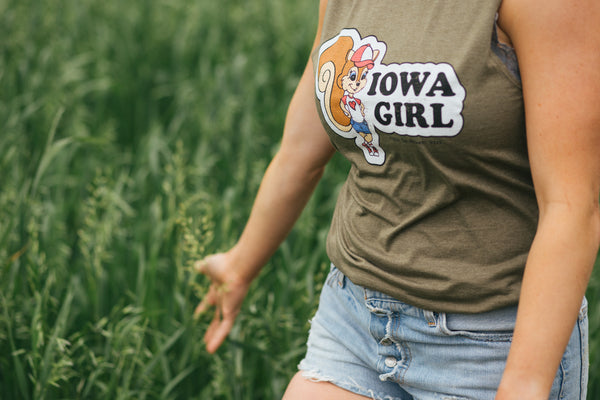 Iowa Girl Muscle Tee