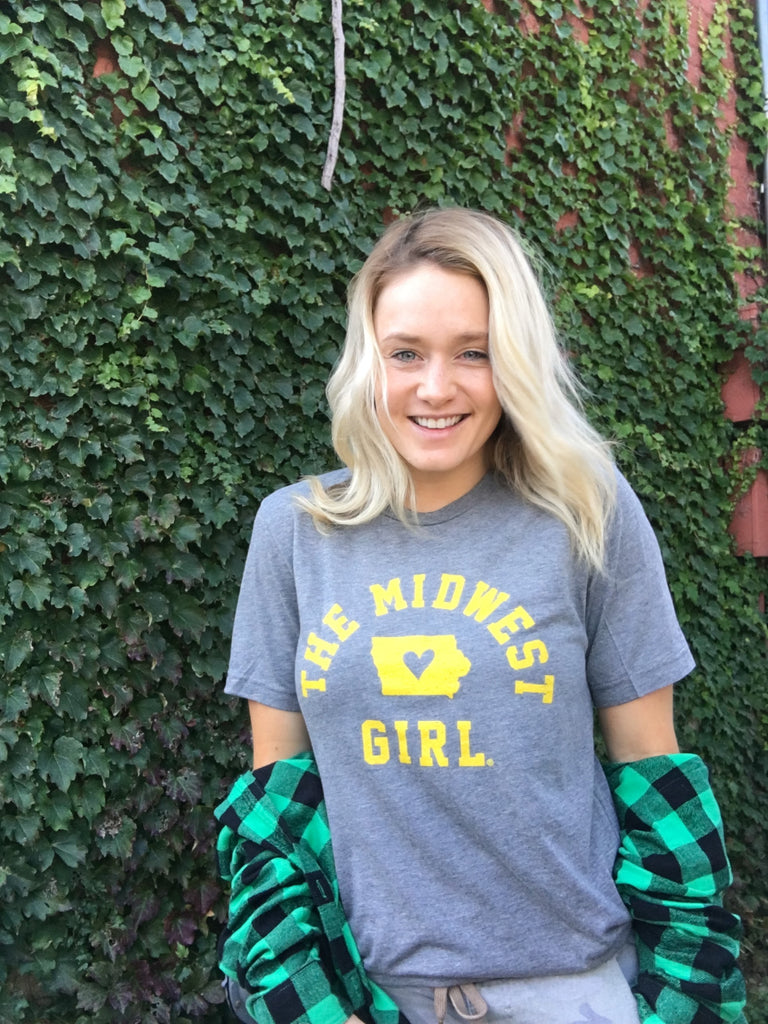 The Vintage Iowa Midwest Girl®Tee