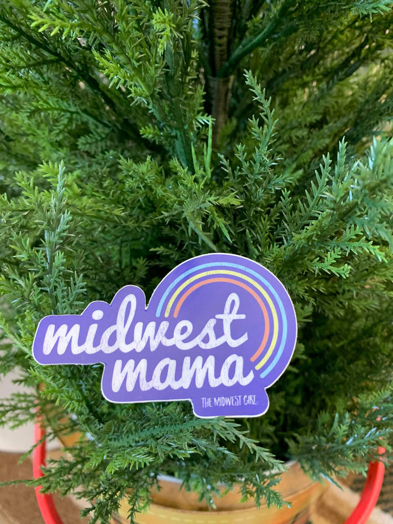 Rainbow Midwest Mama Sticker