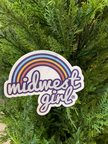 Rainbow Midwest Girl Sticker