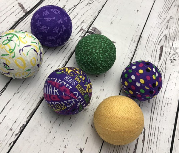 Mardi Gras Fabric Wrapped Bowl Fillers
