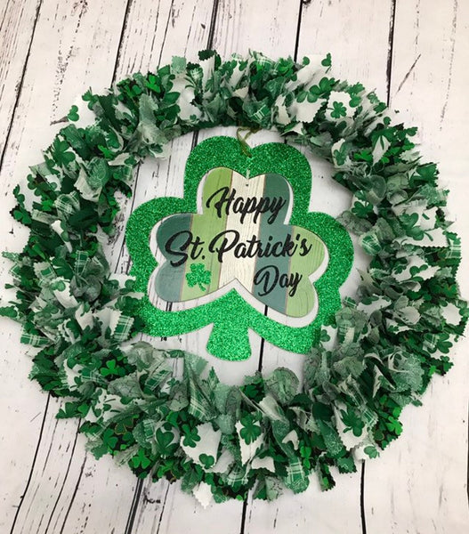 Happy State Patricks Day Wreath