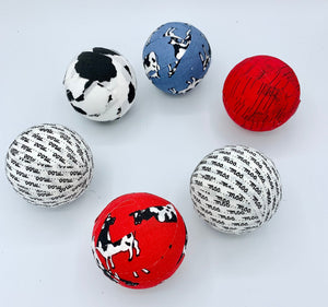 Moo Cow theme fabric wrapped balls set- bowl filler- decoration