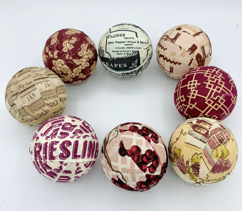 Got Wine- cheers- fabric wrapped ball- bowl filler set orb