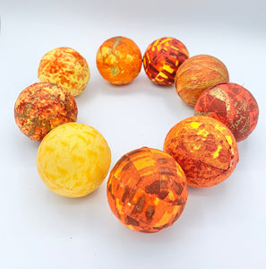 Sunrise Sunset Fabric Wrapped Balls