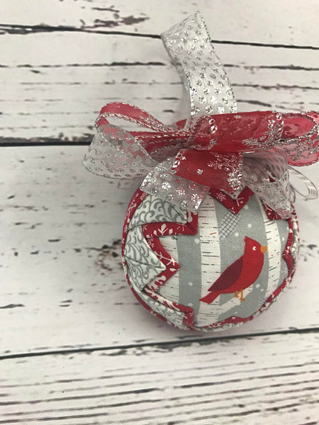 Red Grey Cardinal Ornament