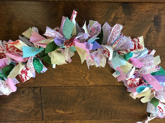 Choose Your Colors Rag Tie Garland