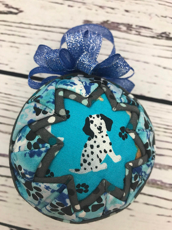 Dalmatian Dog fabric quilted ornament