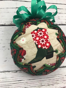 Boot Scootin Cowboy Christmas Ornament