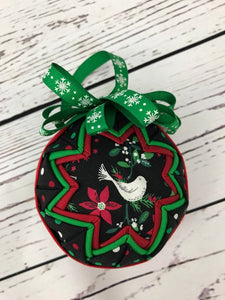 Christmas Birds Fabric Ornament