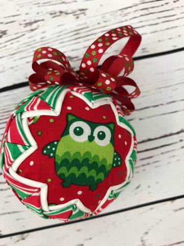 Who's Ready for Christmas Fabric Ball Ornament