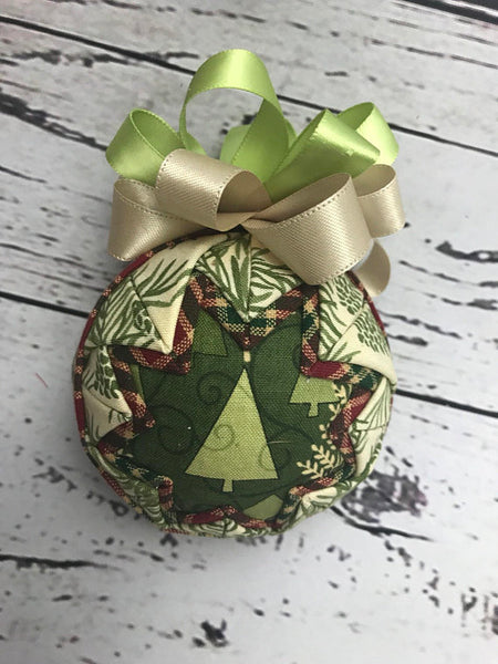 Christmas Tree in the Forest holiday ornament