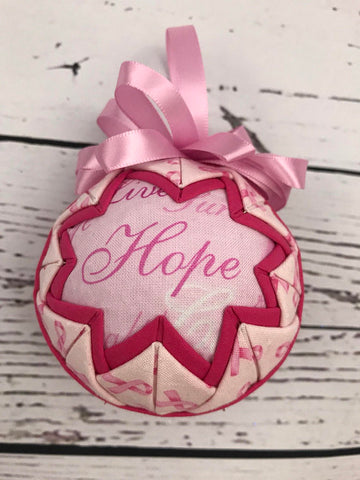 Breast Cancer Support WORDS Ornament