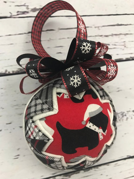 Scottie Dog Christmas Ornament