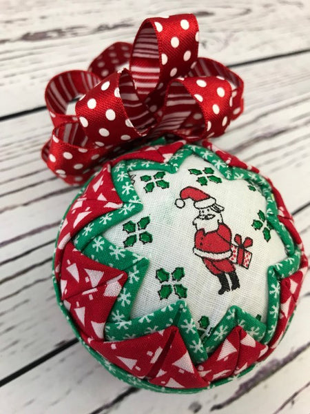 Santa Secret Gift fabric ornament