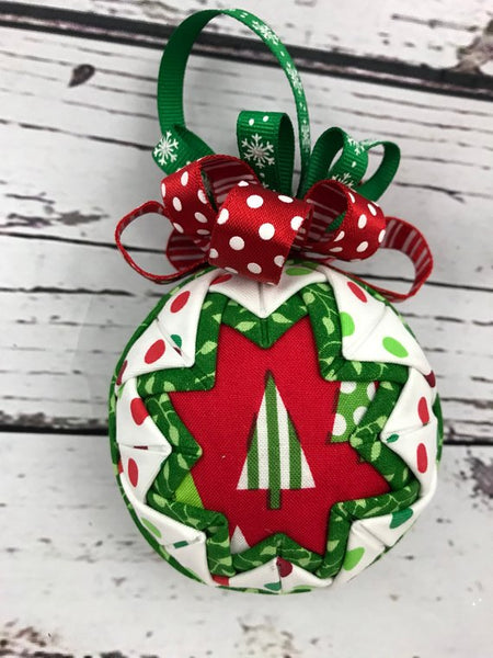 Triangle Tree Fabric Christmas Ornament