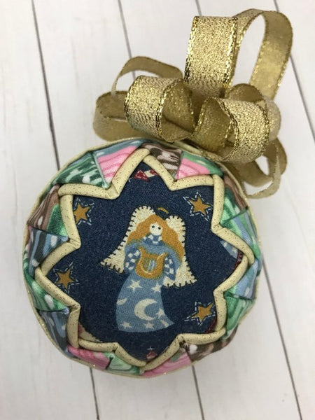 Christmas Angel Fabric Quilted ornament