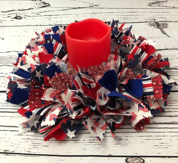 Patriotic Centerpiece with Candle