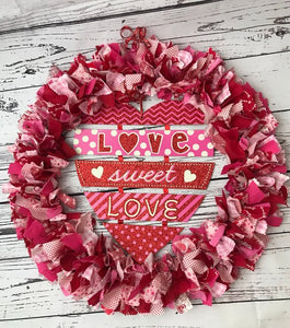 Love Sweet Love Valentines day Wreath