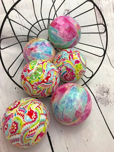 Spring Easter Fabric Wrapped Bowl Fillers- set of 6