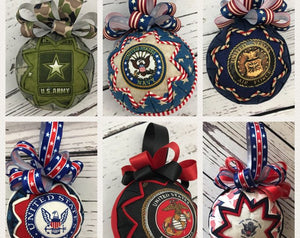 Military Fabric Quilted Ornament