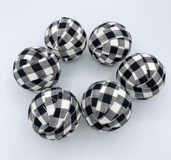 Buffalo Check Plaid Fabric Bowl Filler- set of 6