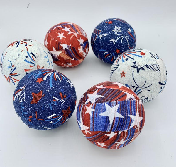 fireworks fabric wrapped balls- patriotic decor