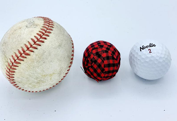"Set of 9 red and black buffalo check 1.5"" fabric wrapped balls - holiday bowl filler"