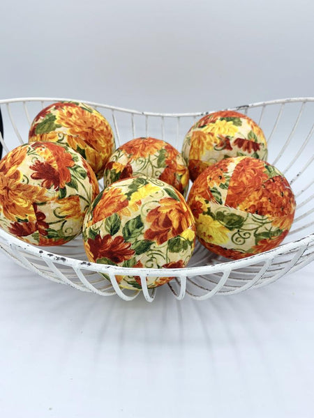 Mums The Word Fall color fabric wrapped falls fulfiller Thanksgiving orbs