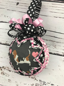 Puppy Love Bassett Hound ornament
